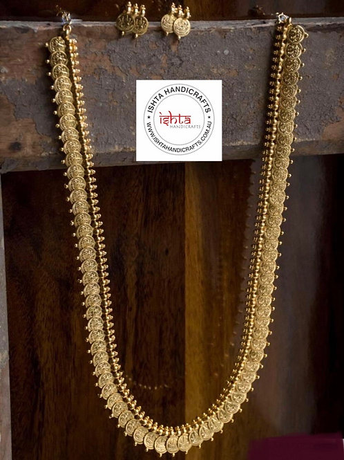 Gold Coin Long Set with Studs
