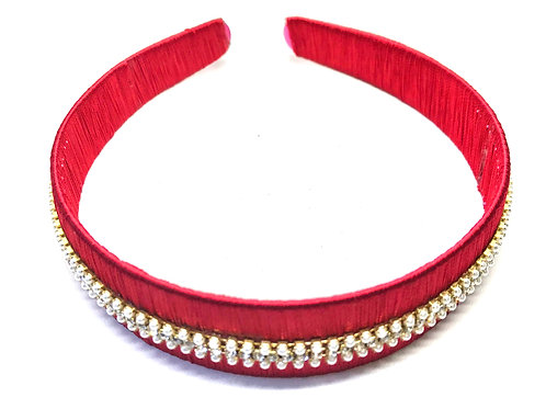 Hairband & Clips - Red