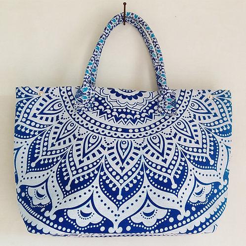 Daisy Blue Ombre Ladies Handmade Handbag