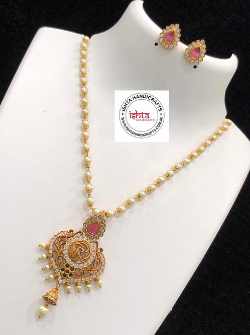 Pearl Chain Set with Studs
