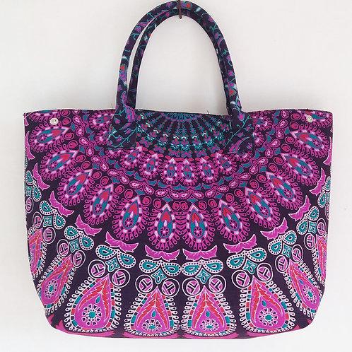 Purple Mandala Hand Bag Women's Tote Bag