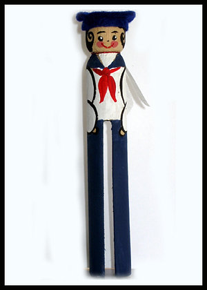 Vintage Sailor Clothespin Doll