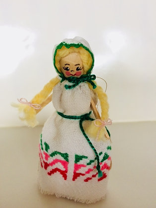 Scandinavian Doll from Vintage Fabric