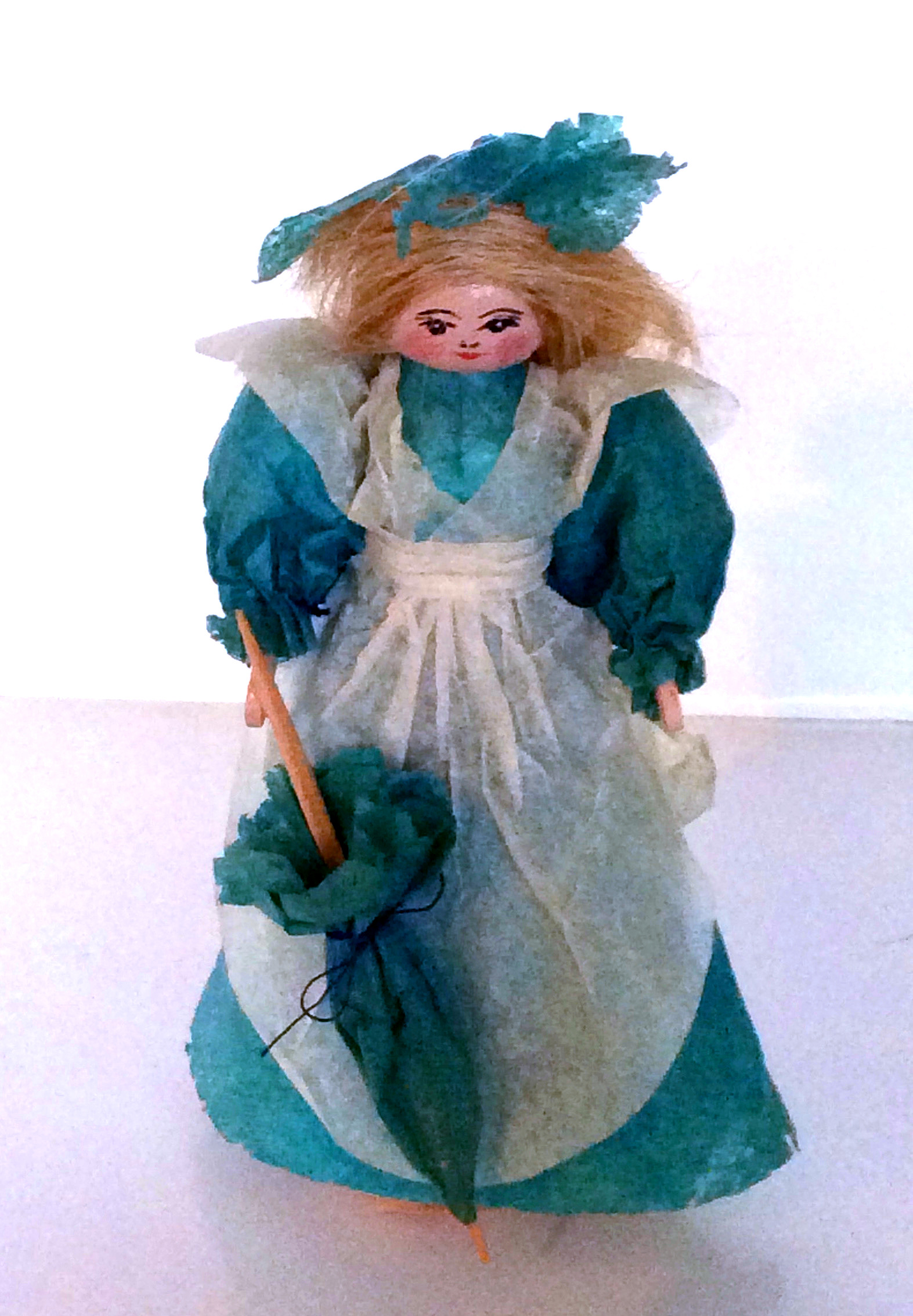 Victorian Tissue Paper Clothespin Doll