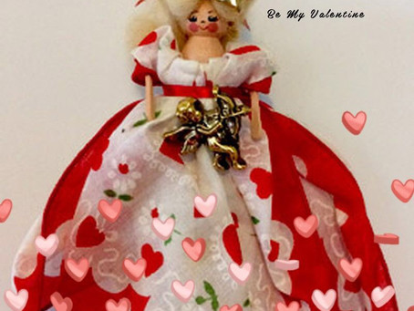 Vintage Valentine Hanky Doll