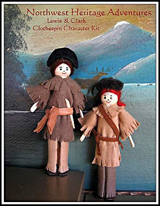 Lewis & Clark Clothespin Character Kit