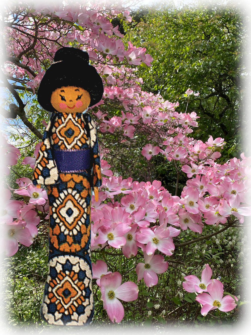 Japanese American Clothespin Doll