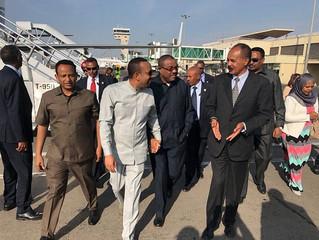 Eritrean President Isayas Afeworki in Ethiopia again