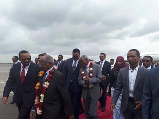Eritrean delegation arrives in Addis Ababa