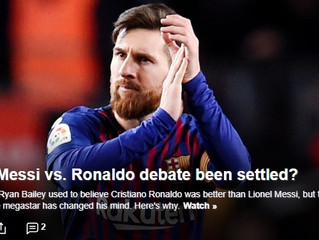 The Messi vs. Ronaldo debate has been settled—and the Argentine is the winner