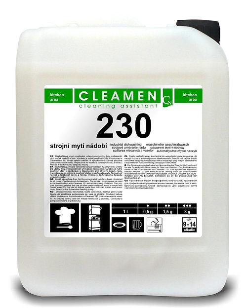 CLEAMEN 230 Strojové umývanie riadu 6kg,24kg,240kg