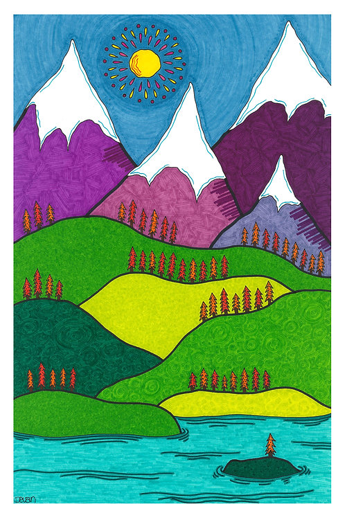 Island in the Mountains 11x17