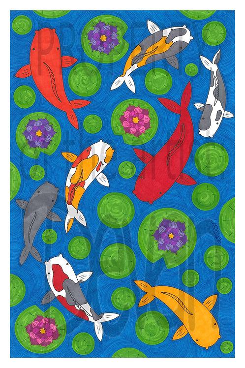 Koi Fish 11x17