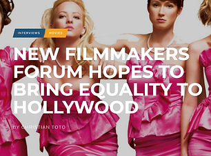 Hollywood in Toto: New filmmakersfrum hpes to bring equality to Hollywood