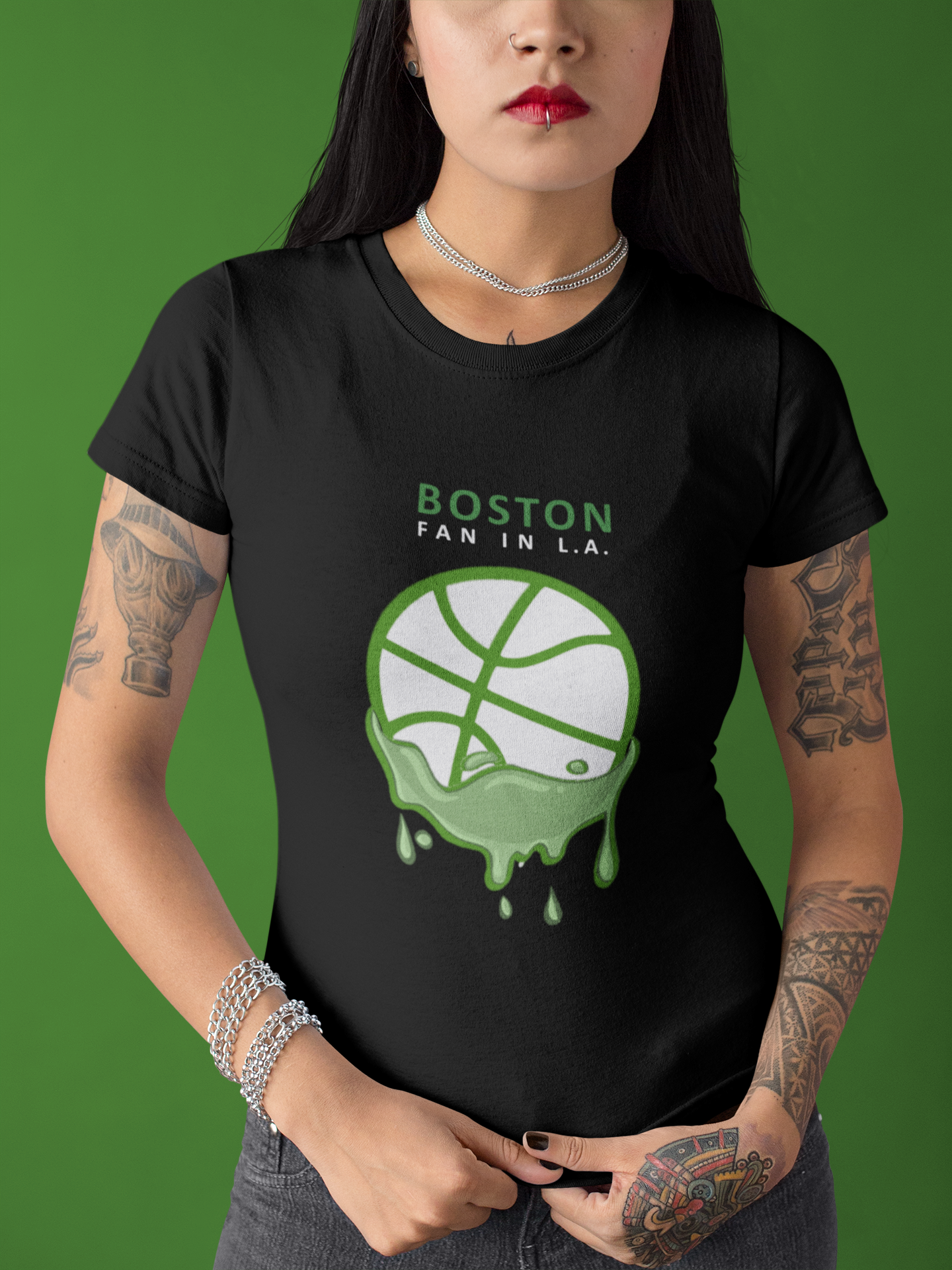 Boston Fan in LA Black