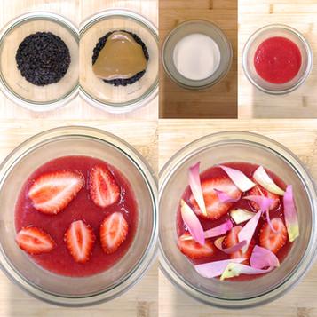 Dessert fraises