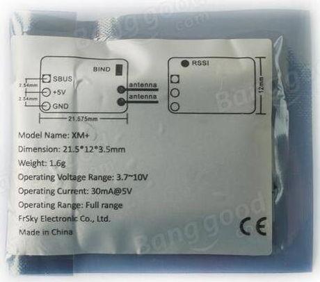 New Frsky Ultra Light 1 5g XM+ Micro D16 SBUS Full Range