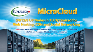 NCS Supermicro MicroCloud Server Systems 24/12/8 up nodes in 3U chassi optimized fr Web Hosting and Socil Networking