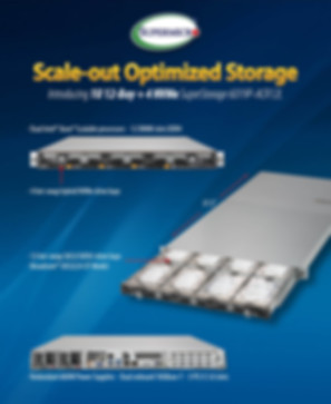 Supermicro NCS Scale-out Storage Server 6019P-ACR12L