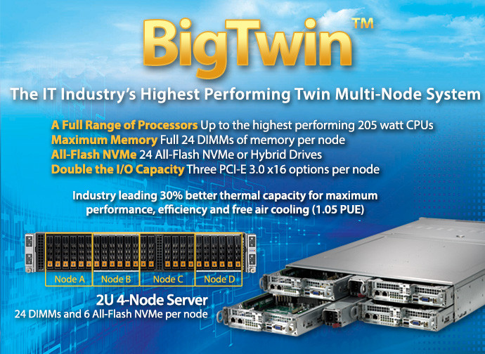 Supermicro BigTwin Solutions.