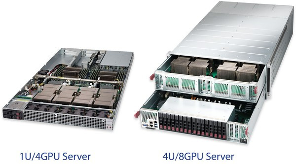 There is nobody who can Compete!  Supermicro 1U4GPU and 4U/8GPU Server