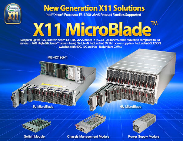 NCS Supermicro New Generation X11 MicroBlade