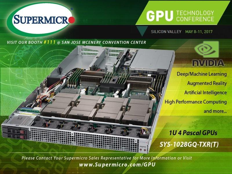 Supermicro's Best GPU Technology  1U4GPU
