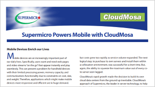 NCS Supermicro MicroCloud Server Sytems, Supermicro Power Mobile