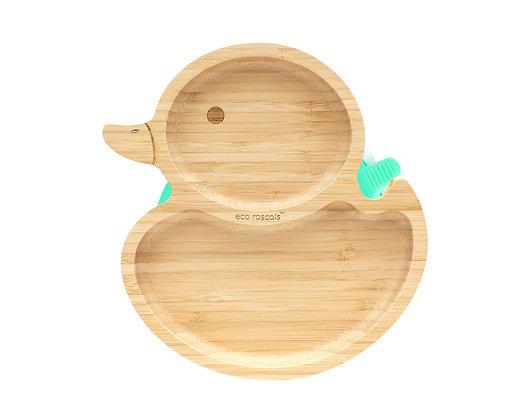 Bamboo Duck Plate - Green