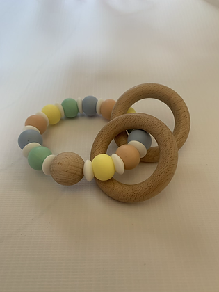 Rainbow Teething Ring