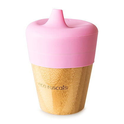 Bamboo Sippy Cup - Pink