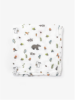 Organic Cotton Muslin Swaddle Blanket - Into The Woods