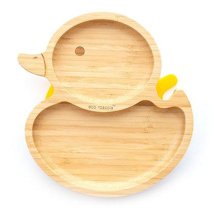 Bamboo Duck Plate - Yellow
