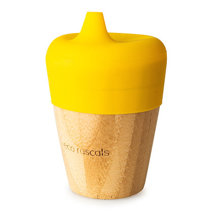 Bamboo Sippy Cup - Yellow