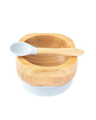 Bamboo Bowl & Spoon Set - Grey