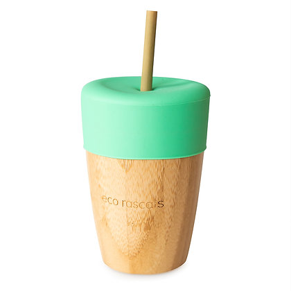 Bamboo Cup & Straw - Green