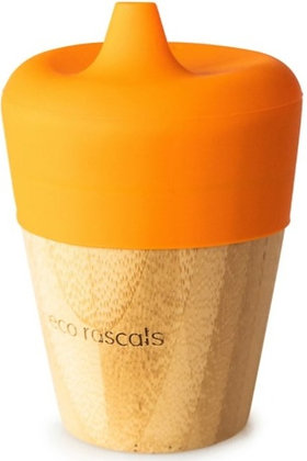 Bamboo Sippy Cup - Orange