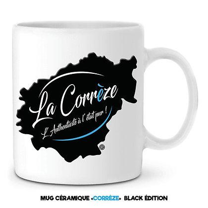 MUG EN CÉRAMIQUE - LA CORREZE - Noir et Bleu