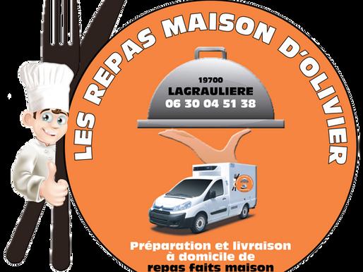 Réalisation du logo des Repas Maison d'Olivier à Lagraulière en Corrèze.
