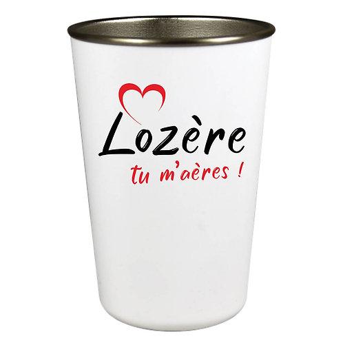 GOBELET INOX - LOZERE TU M'AERES - ROUGE