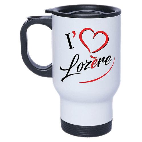 MUG ISOTHERME I LOVE LOZERE - ROUGE