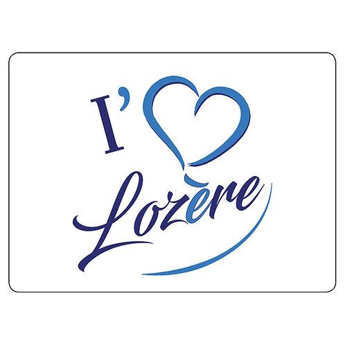 MAGNET - I LOVE LOZERE - BLEU CHARPAL