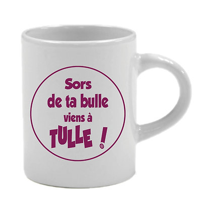 6 TASSES EXPRESSO - SORS DE TA BULLE VIENS A TULLE  - PURPLE