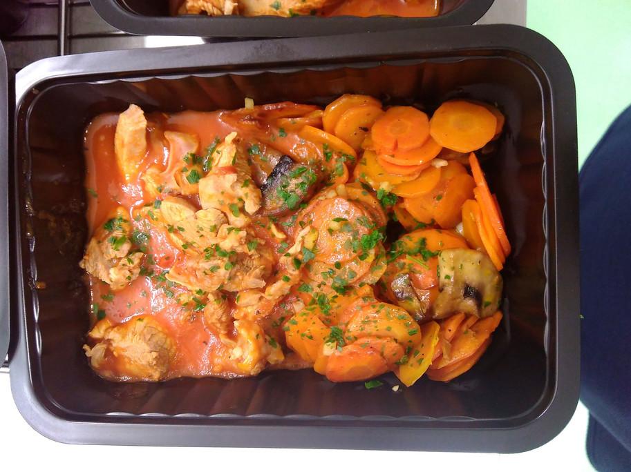 Sauté de veau et jeunes de carottes