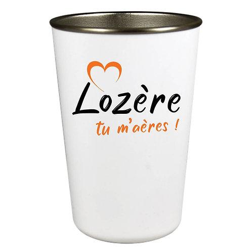 GOBELET INOX - LOZERE TU M'AERES - ORANGE