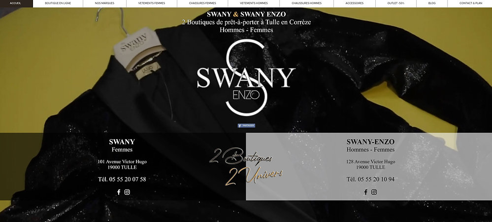 SWANY ENZO TULLE PRET A PORTER HOMMES FE