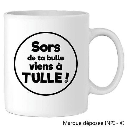 MUG SORS DE TA BULLE VIENS A TULLE - NOIR