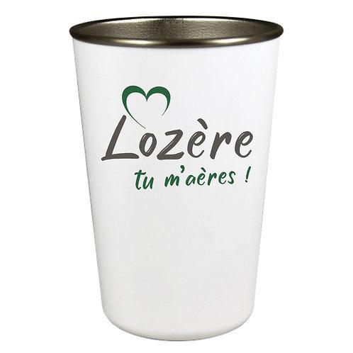 GOBELET INOX - LOZERE TU M'AERES - VERT SAPIN