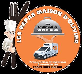 LOGO LES REPAS MAISON D'OLIVIER LAGRAULI