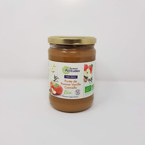 Compote Bio Pomme Vanille Cannelle